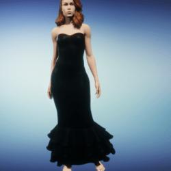 mermaid dress-- black