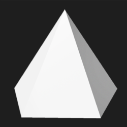 Pentagonal pyramid - White - Collision Mesh - 100M