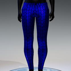 Coffin Cross Metallic Skinny Jeans [Blue]