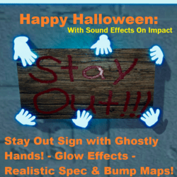 Halloween: Stay Out - Ghost Hands - Sign (v.1)