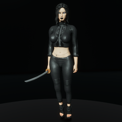 Super assassin leather poison outfit