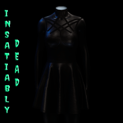 Magica Skater Dress [BLACK]