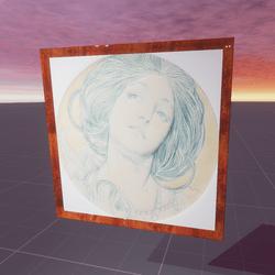 Portrait Of A Young Woman Alphonse Mucha
