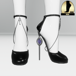 Galaxy cage heels for h2ai high - black silver