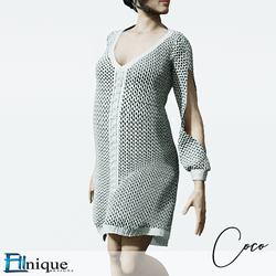 Coco White Sweater dress cutout arms