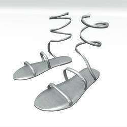 Ancient greek sandals  - white