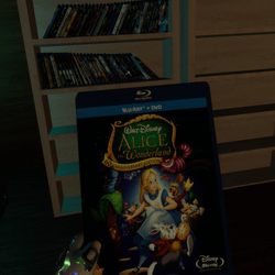 alice in wonderland animated bluray case