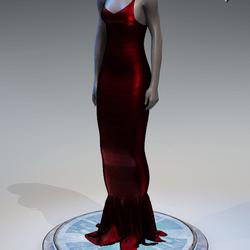 Pentagram Evening Gown [Red]
