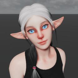 High Elf Avatar (Emissive Eyes)