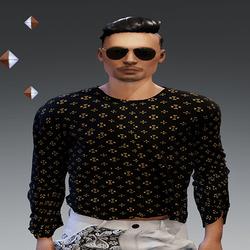 [URBAN FRESH] Mens Royal gold star Sweater