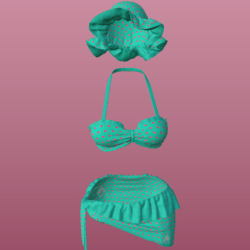 SUMMER OUTFIT_ CYAN_