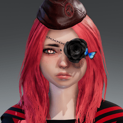 Rose eyepatch left