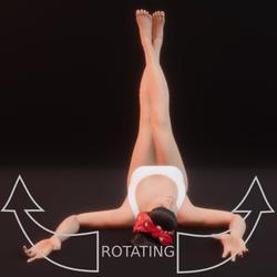 modelpose liegend 05 rotating
