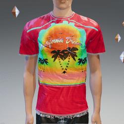 Red California Dream Pocket T-Shirt - Male