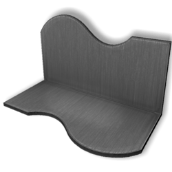 Display For Shop ( H5-W10-D5 ) - Gray - Collision Mesh