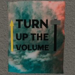 turn up the volume wall poster