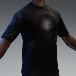 Skull on Black | TShirt