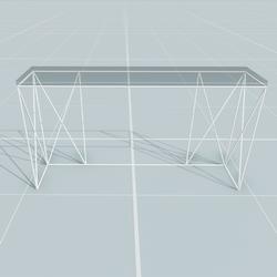 Glass Server Table