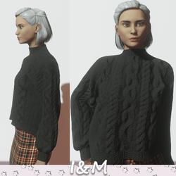 woolen jacket black