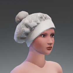 CHRISTMAS FRENCH HAT   WHITE