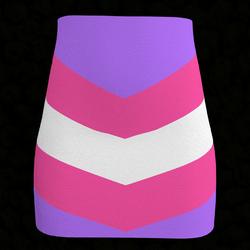 Coloured Arrow Pencil Skirt 02