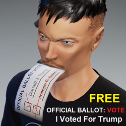 I Voted 4 Donald Trump: Ballot In Mouth