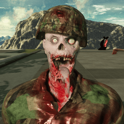 Army Helmet for Zombie Avatar