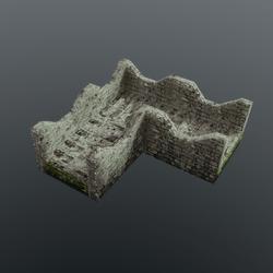Battlement castle wall Corner