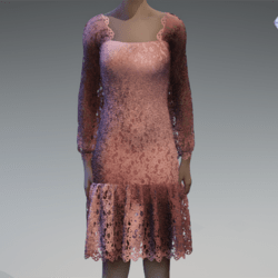 Rose gold gradient lace dress