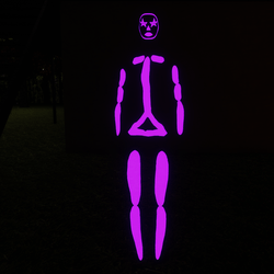 Violet Emissive Rigged Stick Woman Avatar