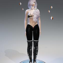 Black Mermaid Leggings - Female