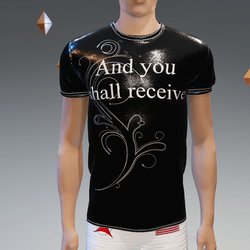 And you shall receive Gloss-Black Athletic Shirt - Male