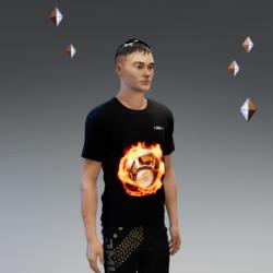 UNISEX_ SHIRT_ SPEAKERS_ SPINNING_ FIRE _ANIMATED_ EMISSIVE_