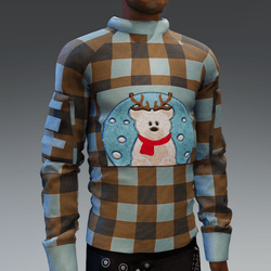 Sweater Brown with Snowbear
