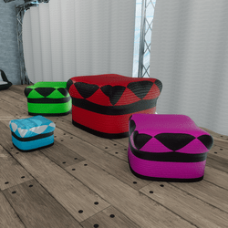 HANGOUT FABRIC STOOLS(4 colors)
