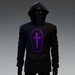 Unisex Coffin Cross Hoodie [Purple]