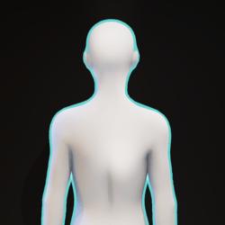 Cyan Glowing Aura F