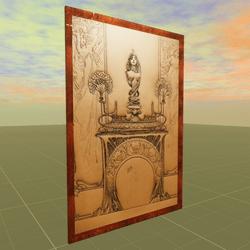 Design for a Fireplace Alphonse Mucha 1