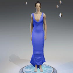 Elegant Dress BABY BLUE