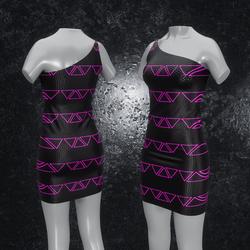 Dress Maja Triangle black pink