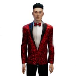 Glitter Tuxedo red