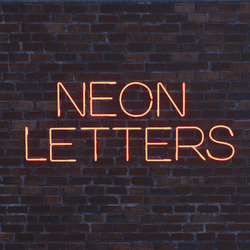 Letter W - Neon Letters