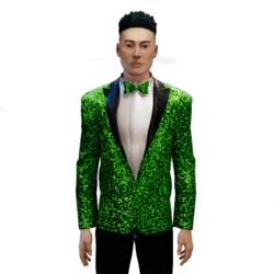 Glitter Tuxedo green