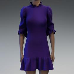 Violet ruffle dress