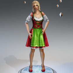 Oktoberfest Dirdnl Dress