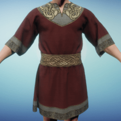 Medieval Norse Tunic Red
