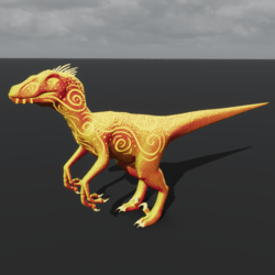 Fire Fairy Raptor Avatar