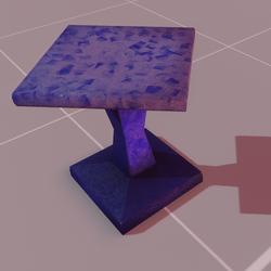 Astra stool purple