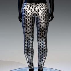 Coffin Cross Metallic Skinny Jeans [Silver]