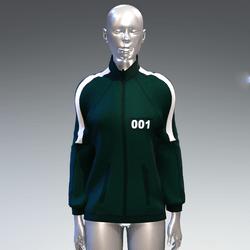 """Squid game"" style sweat jacket female 001"